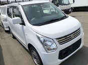 front photo of car MH34S - 2013 Suzuki WAGON R  - WHITE